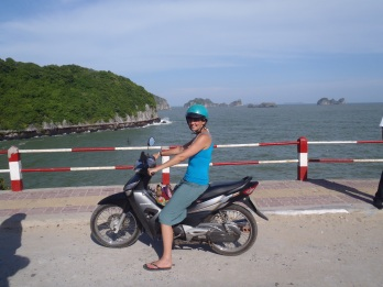 learning to ride a motorbike