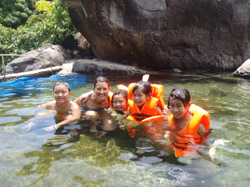 American-Vietnamese friends at the Elephant rock pools