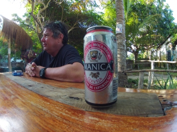Nothing like a cold beer in tropical paradise
