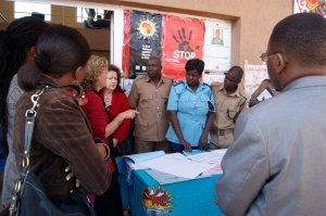 Victims Support Unit Officer explaining the current rape and sexual assault reporting procedures