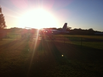 Early morning skydive