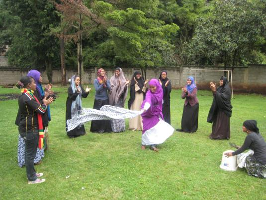 Image 2. somali girls performing a dance